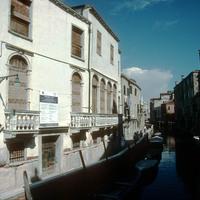 Left-hand view of façade of Ospizio delle Pizzocchere dell'Angelo Raffaele